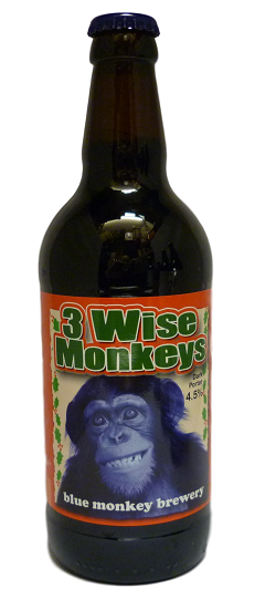 Blue Monkey 3 Wise Monkeys