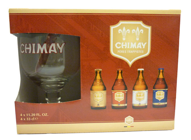 Chimay Trappist Gift Set (4 ales plus 1 goblet)