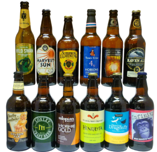 Golden Ales Selection