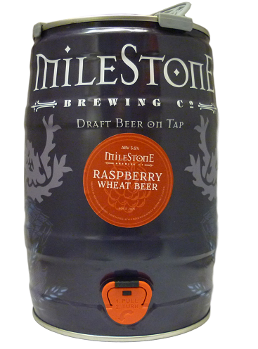 Milestone Raspberry Wheat Beer Mini Keg