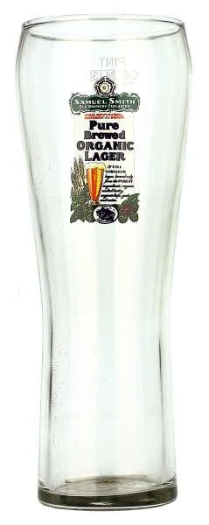 Samuel Smiths Pure Brewed Organic Lager Glass