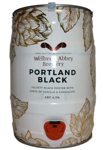 Welbeck Abbey Portland Black Mini Keg