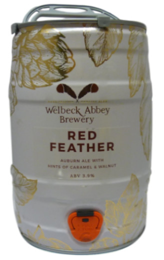 Welbeck Abbey Red Feathers Mini Keg